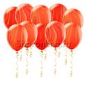 Фото №1: Мраморные красно-оранжевые шары