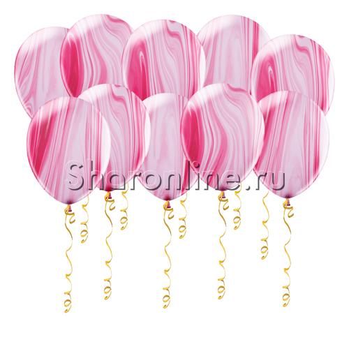 Фото №1: Мраморные розово-белые шары