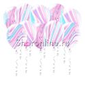 Фото №1: Мраморные сиренево-голубые шары