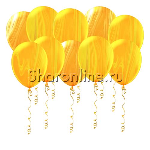 Фото №1: Мраморные желто-оранжевые шары
