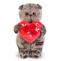 """Фото №1: Мягкая игрушка """"Кот Басик"""" с сердечком 30 см"""