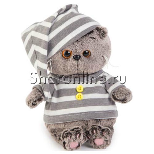 """Фото №1: Мягкая игрушка """"Кот Басик"""" в пижамке 20 см"""