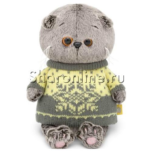"""Фото №1: Мягкая игрушка """"Кот Басик"""" в свитере 20 см"""