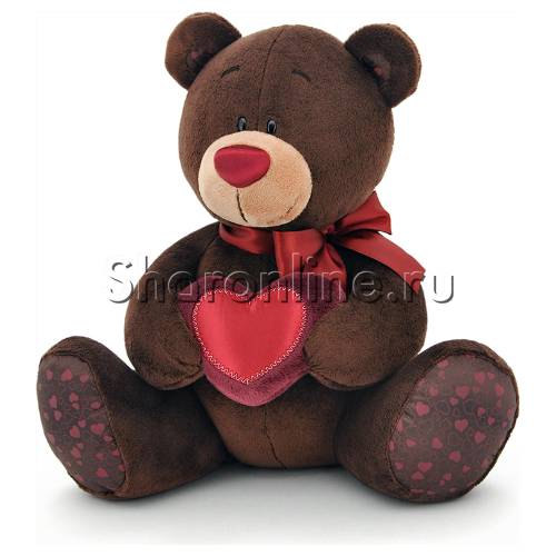 Фото №1: Мягкая игрушка Мишка Чоко с сердцем 70 см