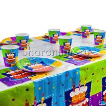 """Набор для сервировки """"Happy Birthday"""" торт"""