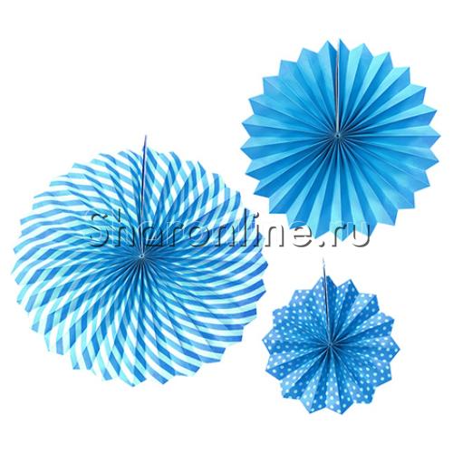Фото №1: Набор голубых бумажных дисков 3 шт