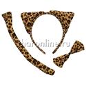 Фото №1: Набор Леопард ушки, бантик, хвостик