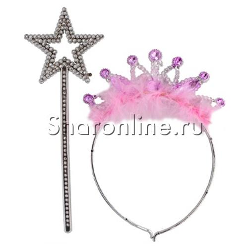 Фото №1: Набор Принцесса (ободок и волшебная палочка)
