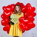 "Фото №1: Набор ""Сердечки + букет белых роз"" Стандарт"