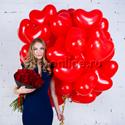 """Фото №1: Набор """"Сердечки + букет красных роз"""" Премиум"""