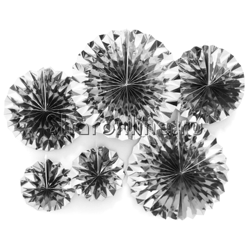 Фото №1: Набор фольгированных серебряных дисков 6 шт