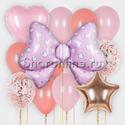 """Фото №2: Набор шаров """"Бант розовый"""""""