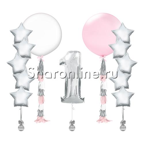 """Фото №1: Набор шаров """"Для девочки"""""""