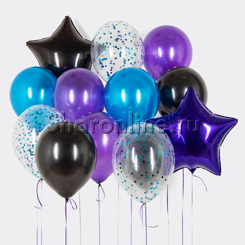 """Фото №1: Набор шаров """"Фиолетовые сны"""""""