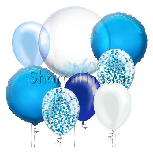 """Фото №2: Набор шаров """"Голубая лагуна"""""""