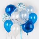 """Фото №1: Набор шаров """"Голубая лагуна"""""""