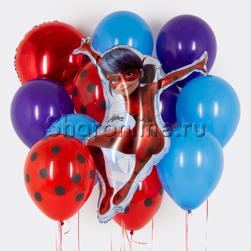 """Фото №1: Набор шаров """"Леди Баг"""""""