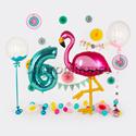 """Фото №1: Набор шаров на День рождения """"Фламинго"""""""