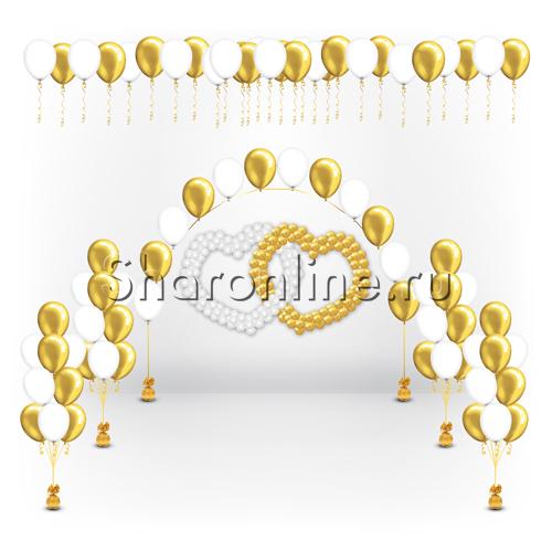 """Фото №1: Набор шаров на свадьбу """"Влюбленные сердца"""""""