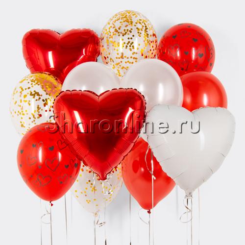 """Фото №1: Набор шаров """"Первая любовь"""""""