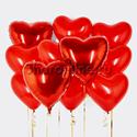 """Фото №1: Набор шаров """"Пламенное сердце"""""""