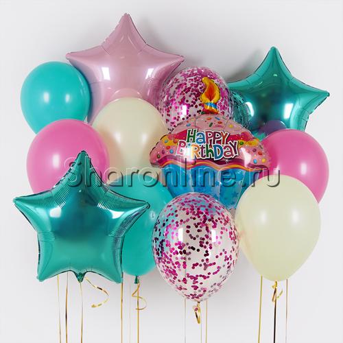 """Фото №1: Набор шаров """"Праздничный торт"""""""