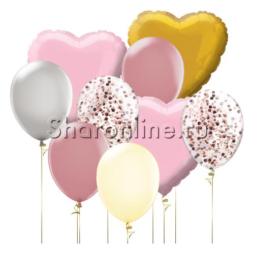 """Фото №2: Набор шаров """"Пудровая нежность"""""""