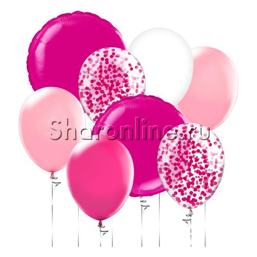 """Фото №1: Набор шаров """"Розовый блеск"""""""