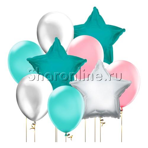 """Фото №1: Набор шаров """"Звездный ветер"""""""