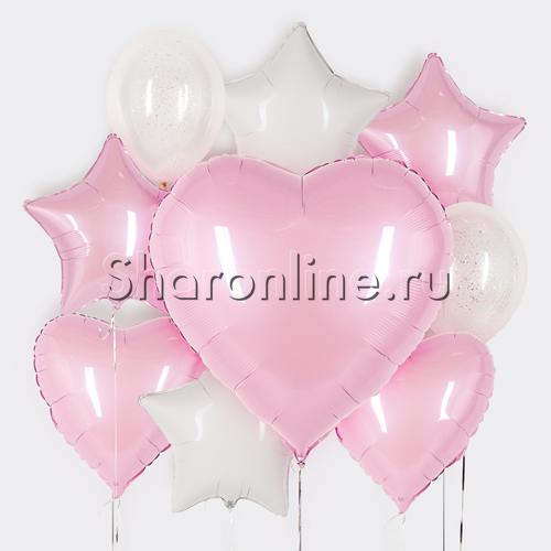 """Фото №1: Набор шаров """"Воздушный поцелуй"""""""
