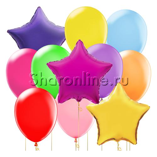 """Фото №2: Набор шаров """"Яркая звезда"""""""