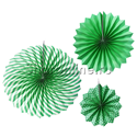 Фото №1: Набор зеленых бумажных дисков 3 шт