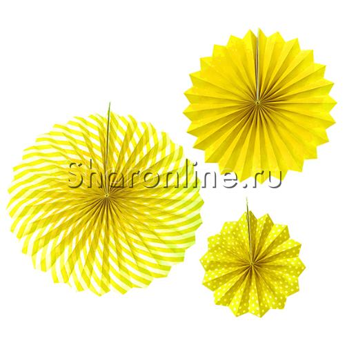 Фото №1: Набор желтых бумажных дисков 3 шт