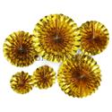 Фото №1: Набор фольгированных золотых дисков 6 шт