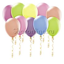 Неоновые шары ассорти