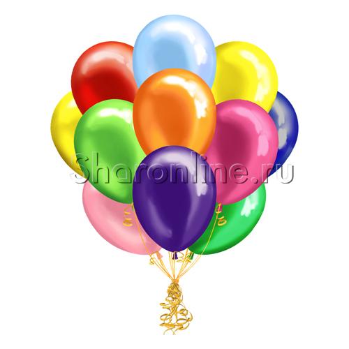 Фото №1: Облако шариков Ассорти металлик