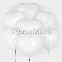 Фото №2: Облако белых сердечек Премиум 41 см