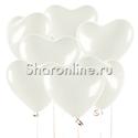Фото №1: Облако белых сердечек Премиум 41 см