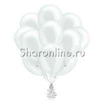 Облако белых шариков металлик