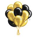 Фото №2: Облако черно-золотых шариков