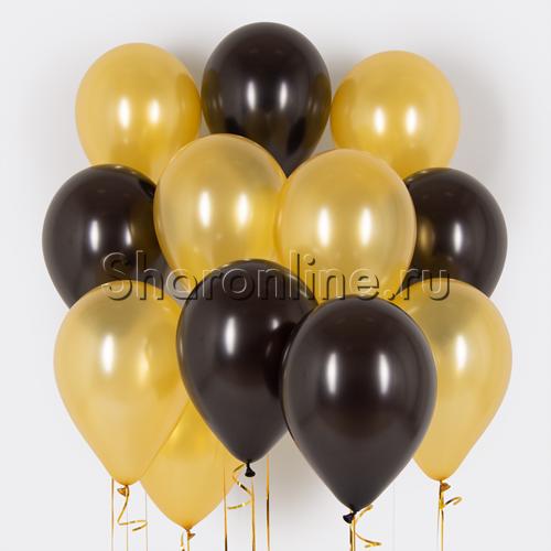 Фото №1: Облако черно-золотых шариков