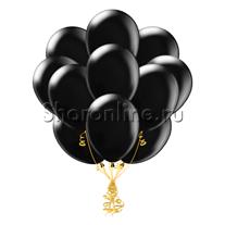 Облако черных шариков