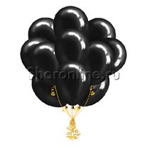 Облако черных шаров металлик