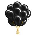 Фото №2: Облако черных шаров металлик
