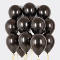 Фото №1: Облако черных шаров металлик