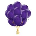 Фото №1: Облако фиолетовых шариков