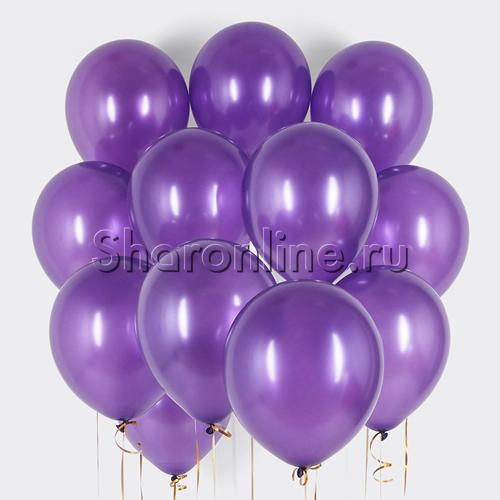 Фото №1: Облако фиолетовых шариков металлик