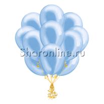 Облако голубых шариков металлик