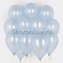 Фото №1: Облако голубых шариков металлик