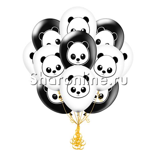 """Фото №1: Облако из шаров """"Панда"""""""